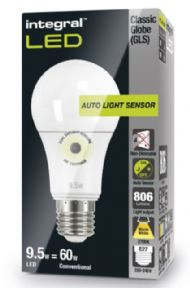 Dusk till dawn | Sensor Lamp| E27 LED 60W Equivalent |  INTEGRAL LED